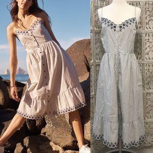 MADEWELL Jardin Embroidered Midi Dress